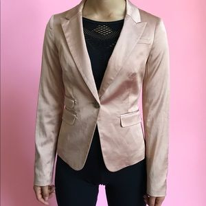 Elizabeth and James Stretch Satin Blazer
